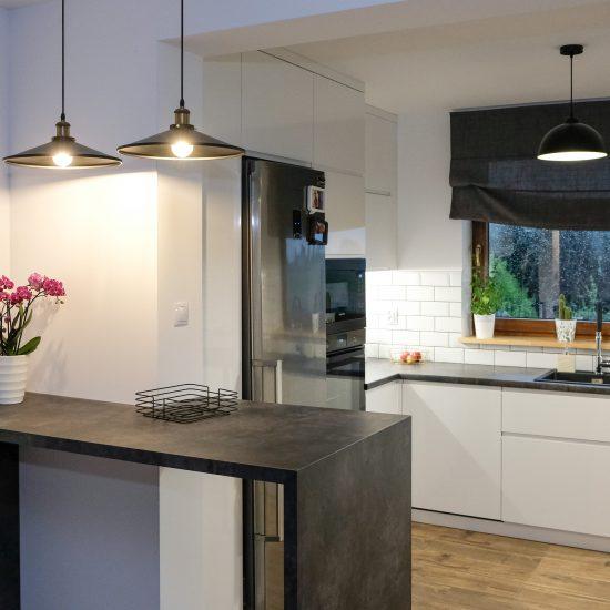 Projekt nowoczesnej kuchni oświetlenie kuchenne